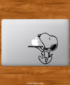 Sticker Calcomanía laptop macbook snoopy mesero
