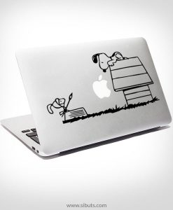 Sticker Calcomanía laptop macbook snoopy quijote