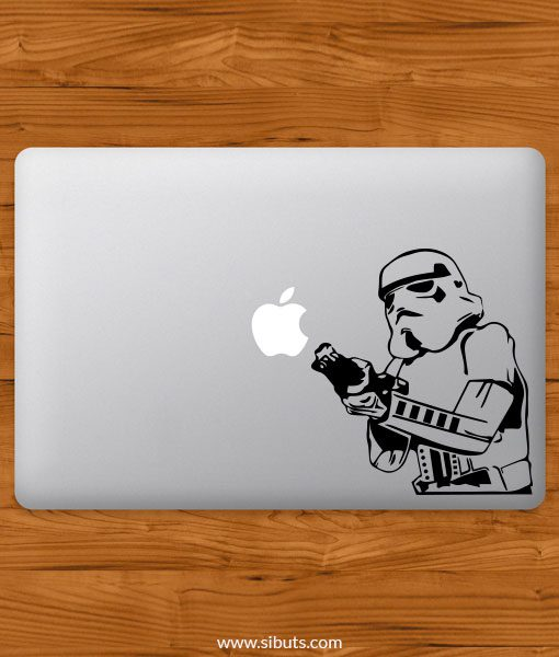 Sticker Calcomanía laptop macbook stormtrooper