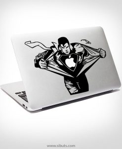 Sticker Calcomanía laptop macbook superman
