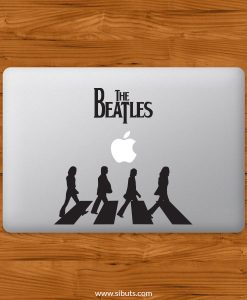 Sticker Calcomanía laptop macbook beatles