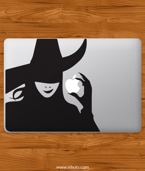 Sticker Calcomanía laptop macbook wicked