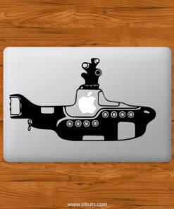 Sticker Calcomanía laptop macbook yellow submarine