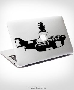 Sticker Calcomanía laptop macbook yellow submarine