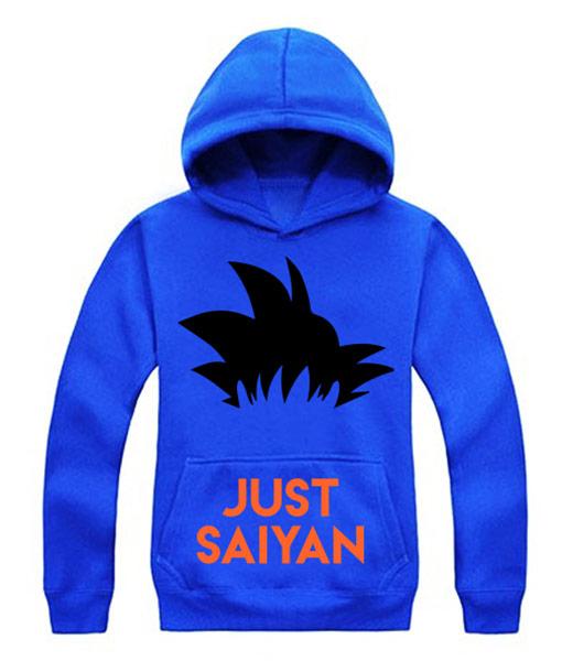 Sudadera azul hombre Just Saiyin