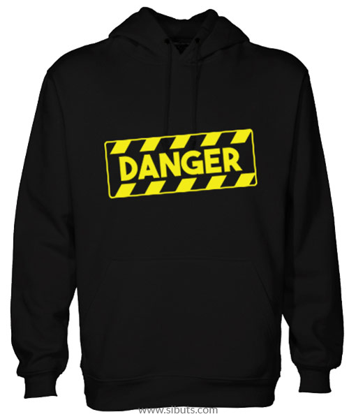 Sudadera negra hombre Danger