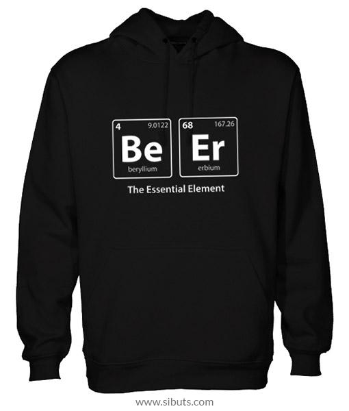 sudadera negra para hombre beer element