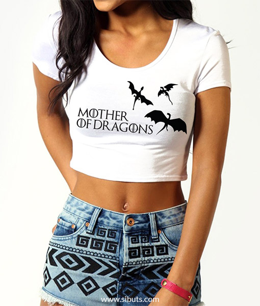 Crop Top Mother of Dragons Game Of Thrones