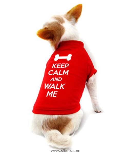 Playera Perro Keep Calm And Walk Me