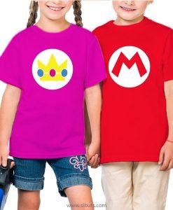 Playera Niña Princesa y Mario Bros