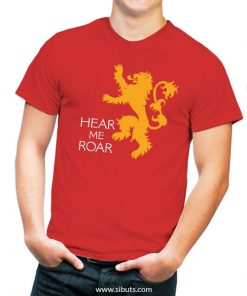 Playera roja Game of thrones Hear my roar