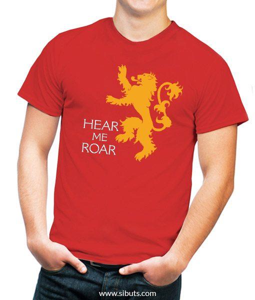 Playera roja Game of thrones Hear my roar