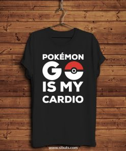Playera hombre Pokemon Go Is My Cardio