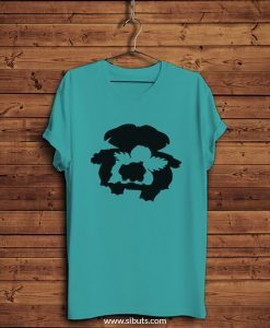 Playera hombre azul Pokemon Bulbasaur Evolution