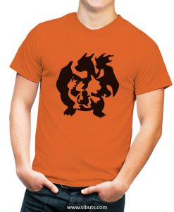 Playera hombre azul Pokemon Charmander Evolution