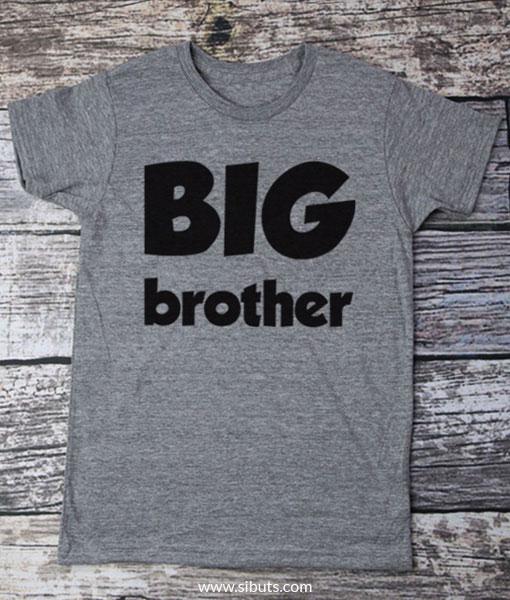Playera gris para niño Big Brother