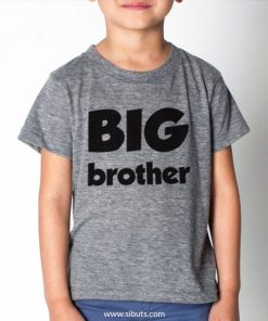Playera gris para niño Big Brother