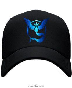 Gorra Pokemon Go Team Instinct Mystic Azul Cromo