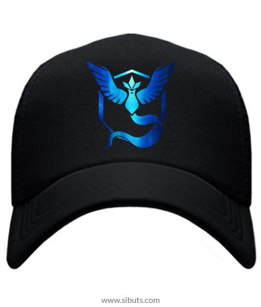 Gorra Azul Pokemon Go Team Mystic Neón - Sibuts Tienda online 70d1cf6594e
