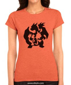 Playera Pokemon Go evolución Charmander