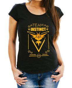 Playera mujer pokemon go team instinct