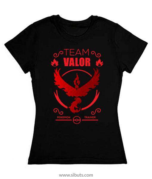 Playera mujer pokemon go team valor