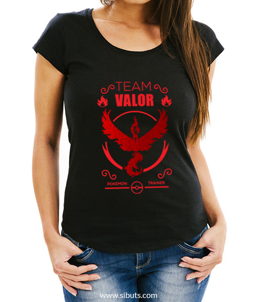 Playera mujer pokemon go team valor