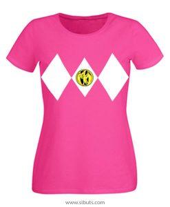 Playera mujer power ranger rosa