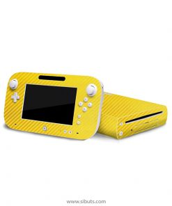 Skin Wii U Fibra de Carbono Amarillo