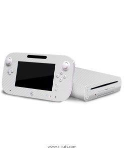 Skin Wii U Fibra de Carbono Blanco