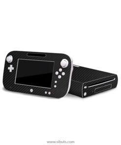 Skin Wii U Fibra de Carbono Negro