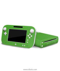 Skin Wii U Fibra de Carbono Verde