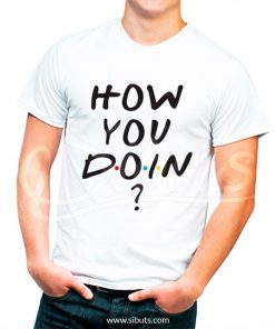 playera blanca hombre serie friends how you doin