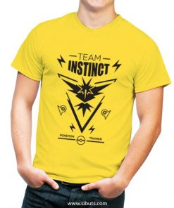 playera hombre amarilla pokemon go team instinct