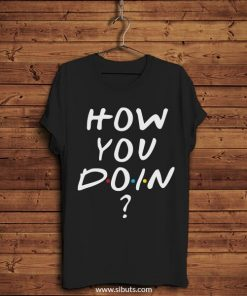 Playera negra serie friends how you doin? joey