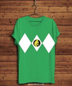 playera hombre power ranger verde