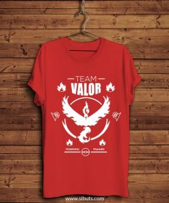 playera hombre roja pokemon go team valor
