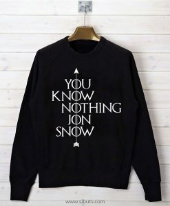 sudadera mujer you know nothing jon snow