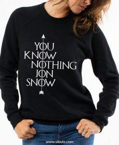 sudadera mujer you know nothing jon snow