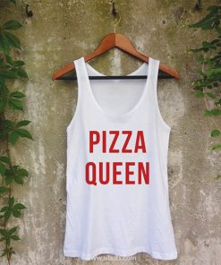 Playera Mujer Tank Top Pizza Queen