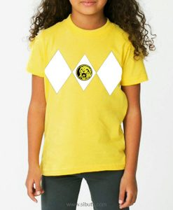 Playera niña Power Ranger Amarillo