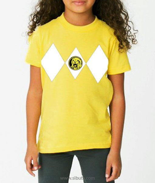 Playera niña Power Ranger Amarillo