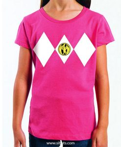 Playera niña Power Ranger Rosa