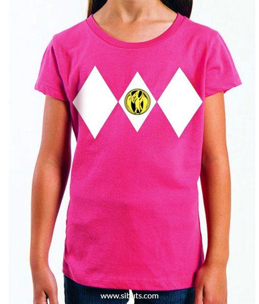 Playera niña Power Ranger Rosa