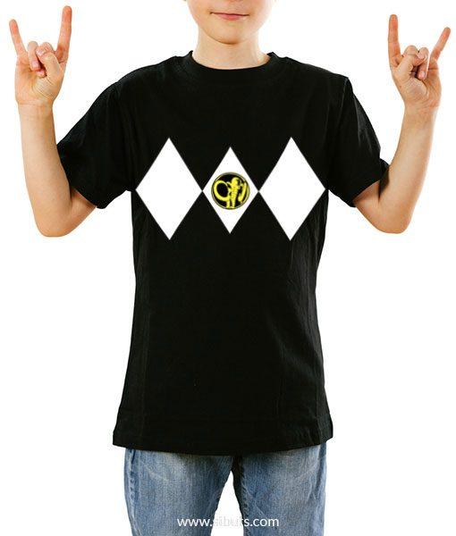 Playera niño Power Ranger Negro