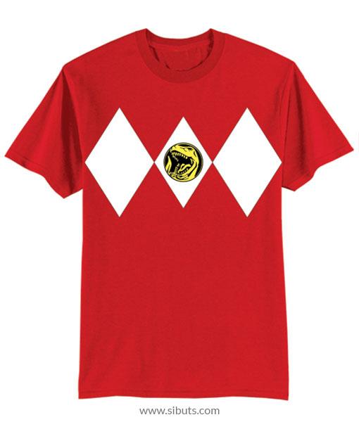 Playera niño Power Ranger Rojo