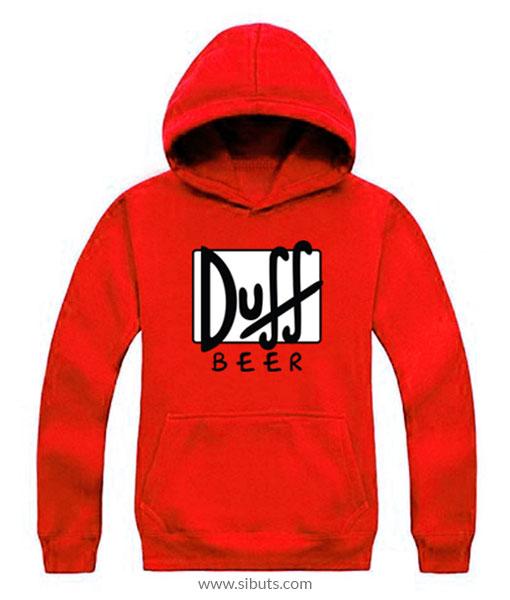 Sudadera Roja para hombre the simpsons Duff Beer