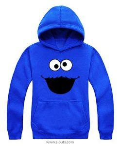 Sudadera para hombre Cookie Monster Monstruo Come Galletas