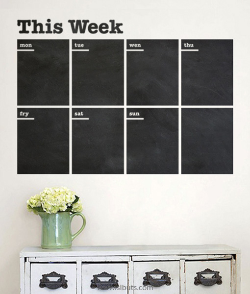 Vinilo Pizarrón Planner Week