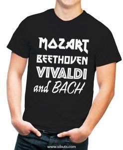Playera hombre música clásica Mozart Beethoven Vivaldi Bach